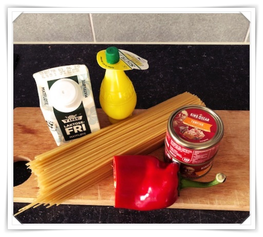 Ingredienser til enkel og billig middag