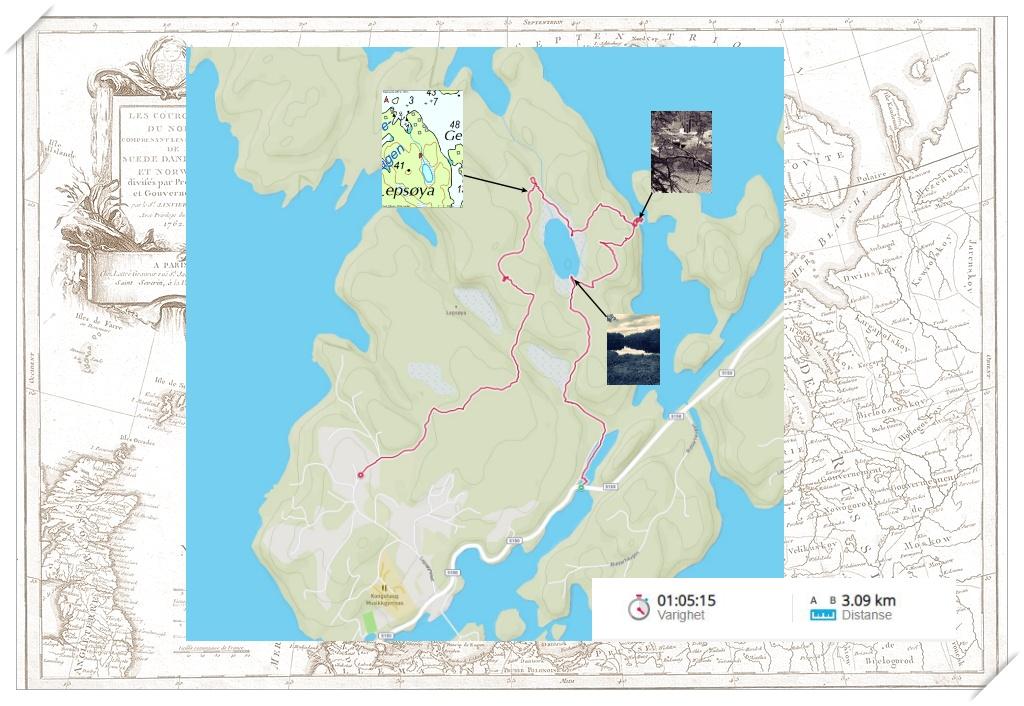 Sporet mitt for Lepsøyvannet rundt