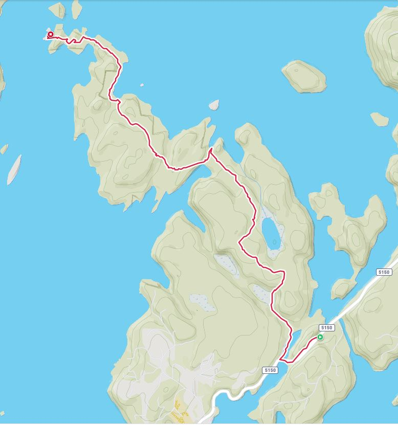 Kartbilde skispor retur