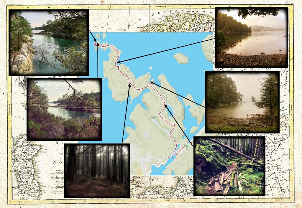 Collage med bilder fra turen